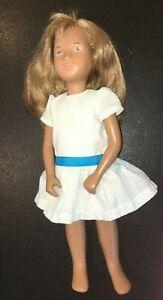 "Vintage 16"" SASHA doll sandy blonde #113 party dress Trendon Toys England 1980s"