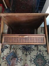 lane furniture end table One Drawer Woven Walnut