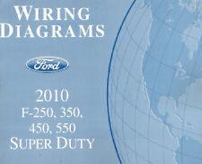 2010 Ford F250 F350 F450 F550 Factory Wiring Diagram Scehmatics Manual