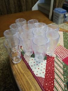 12 Polycarbonate Plastic Shatter Proof  Unbreakable 12 Oz Highball Water Glasses