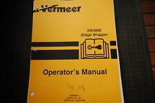 VERMEER SW3000 SILAGE WRAPPER 1998 Operator Owner Operation Manual book guide