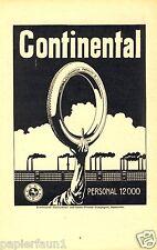 Continental Reifen Hannover Reklame von 1914 Personal 12000 Fabrikschlot Arm Ad