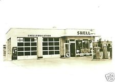 1 VINTAGE 5x7 SHELL GAS STATION SHELLUBE ISLAND PUMPS OIL CAN DISPLAY COCA-COLA