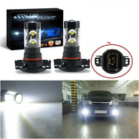 5202 H16 LED Fog Light Bulbs 6000K for 2007-2015 Chevy Silverado 1500 White 100W