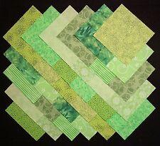 "BRIGHT GREEN 5"" Squares, 100% cotton Prewashed, Quilt Block Fabric (#B/44C)"