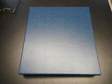 Lindner Schutzkassette 1102y für 18 Ringalbum Format Vordruckblätter Farbe blau