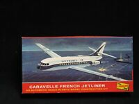 Vtg LINDBERG Line Airplane Model CARAVELLE FRENCH JETLINER Plastic Model Kit