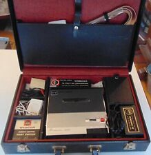 Webcor Briefcase reel to reel tape Recorder very good condition many accessories