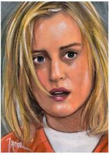 ORANGE is the new BLACK Piper CHAPMAN ORIGINAL Sketch CARD ACEO ART PSC