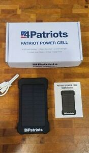 Genuine 4Patriots Patriot Power Cell Solar Phone Charger USB Power New In Box