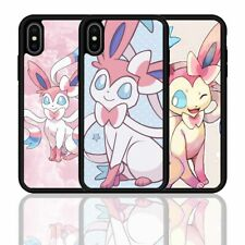 For iPhone 11 12 PRO XS Max XR Pokémon Sylveon Eevee Silicone Phone Case Cover