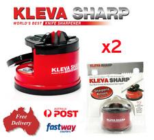2x KLEVA Sharp The Best Knife Sharpener Diamond For Knives Blades Scissors Tools