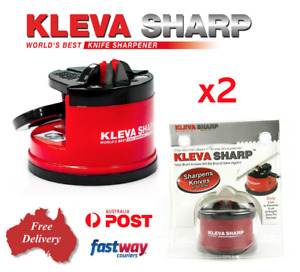 2x KLEVA Sharp The Best Knife Sharpener Diamond For Knives Blades Scissors Tools
