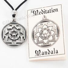 MEDITATION Mandala Necklace Pendant Trisula Yantra talisman Enlightenment ENERGY