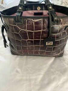 dooney and bourke Moc Croc In Expresso Handbag 17.5x11.5x5.5
