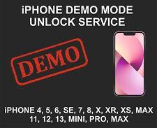Demo Mode Unlock Remove Service, fits iPhone 7, 8, X, XR, XS, 11, 12, 13, Pro, M