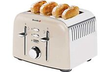 Breville 4 Slice Stainless Steel Aurora Toaster - Cream VTT501