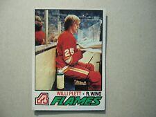 1977/78 TOPPS NHL HOCKEY CARD #17 WILLI PLETT ROOKIE NM SHARP!! 77/78 TOPPS
