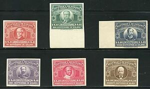 PANAMA SCOTT#C54/57.C59/60 25th ANN OF THE PANAMA CANAL IMPERFORATE MINT NH  OG