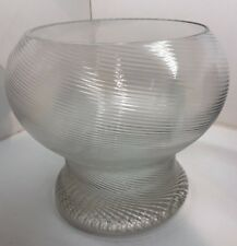 Large Scandinavian Ribbed Glass by Erik Hoglund for Boda Mid Century Modern