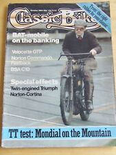 CLASSIC BIKE MAGAZINE OCT 1983 VELOCETTE NORTON COMMANDO BSA C10 NORTON CORTINA