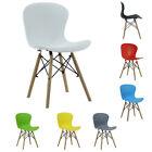 Eiffel Plastic Dining Chair, Ribbed PVC Scandinavian Style White, Black, Grey...