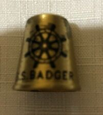 S.S. BADGER SOLID BRASS THIMBLE U.S.A.