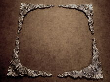 MIRROR FRAME OR PICTURE FRAME ORNATE CORNER MOULDINGS METALLIC SILVER