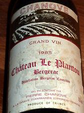 1 FL CHANOVE GRAND VIN 1985 CHATEAU LE PLANTEAU BERGERAC ROTWEIN 0,75L FRANCE