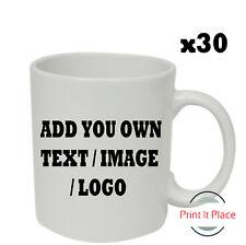 Personalised Mug Custom Photo Logo Cup Gift Box Image/Text Promotional Bulk x30