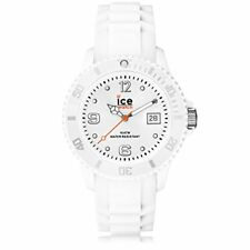 NEW Ice Watch Unisex SI.WE.U.S.09 Sili Collection White Plastic and Silicone