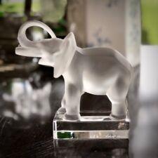 Lalique Crystal Elephant Sculpture (Elefante) Trunk Up Mint Signed Authentic