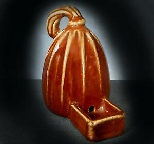 VERY RARE DOULTON LAMBETH BIRD FEEDER / WATERER IN THE FORM OF A GOURD