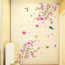 wall stickers graceful peach blossom room stickers romantic living room decor IU