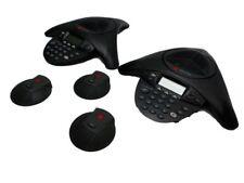 Lot of 2 Polycom SoundStation 2 / Lot of 3 Polycom External Microphones