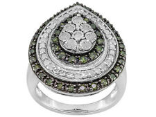 India Green Diamond .75ctw  Cocktail Ring size 5