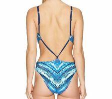 New Lucky Brand Ocean Size S Blue One Piece Monokini Sexy Swimsuit Retail $112