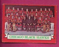 1973-74 OPC # 96 CHICAGO HAWKS  TEAM PHOTO EX CARD (INV# A7851)