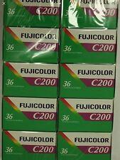 10 Rolls Fujifilm Fujicolor C200  36 Exp Color Print 35mm Film Fuji   08/2017