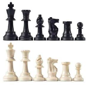 New Staunton Single Weight Chess Pieces – 34 Black and White Chessmen