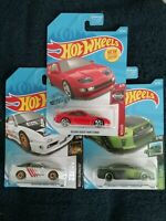Hot Wheels Set of 3 (THREE) NISSAN VHTF Hot Wheels White, Red and Green, New