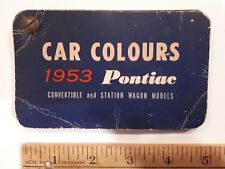 1953 PONTIAC Original Color Chip Deck - Exterior Paint Samples (US)