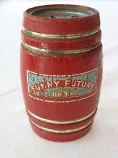 "SUNNY FUTURE RED BARREL BANK BY BRODHAVEN MFG. CO NEW YORK ""No Key"""