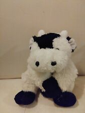 Dandee Cow White Black Collectors Choice Plush Stuffed Bull Toy 13""
