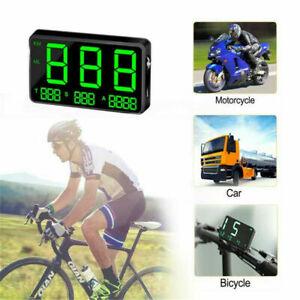 Car Motorcycle Digital GPS Speedometer Head Up Display MPH Overspeed Alarm New