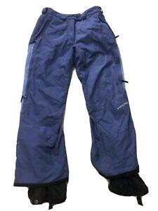 Columbia Women's Sz M Convert Lined Snow Ski Snowboard Pants w/adjustable waist
