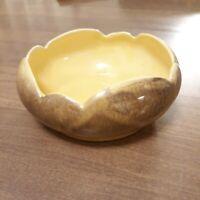 Vintage Covina Pottery Planter Yellow 131 Mid Century California Scalloped Rim