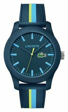 Lacoste Men's 12.12 Blue Nylon Strap Watch.