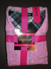Joe Boxer women flannel pajama set - 2pc M sz pink stars NWT