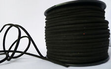 10M Black Flat Faux Suede Leather Cord 3mm×1.5mm Craft Beads DIY Making Cords